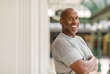 Confident man with dental implant sin Greensboro