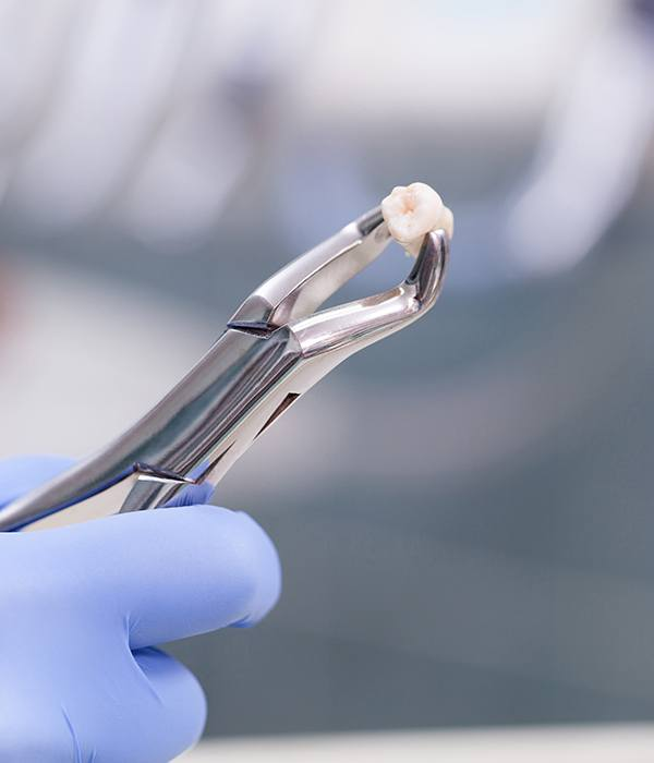 tooth in extraction tool